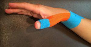 ボウリング親指痛みテーピング