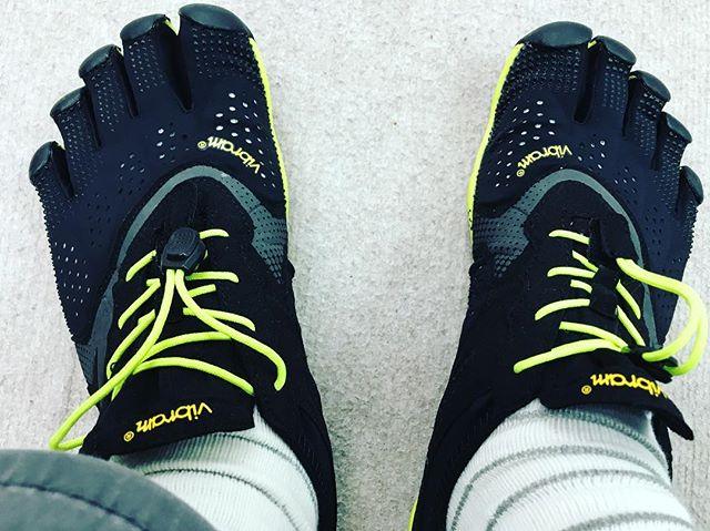 昨日院内で履いていたスリッパがご臨終したので、VibramのV-run買ってみた。履き心地は気持ちいい。でも脱いだ瞬間両方の足の裏が痙攣してカチンカチン。これまでどれだけ足の指を使っていなかったかがよくわかる。これから毎日履いて鍛えます。#アルコット接骨院 #石川県 #金沢市 #小立野 #インソール #巻き爪 #Vibram #fivefingershoes #V-run #五本指シューズ