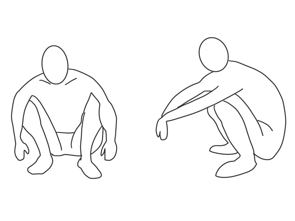 シンスプリント(前外側型)の疼痛誘発姿勢