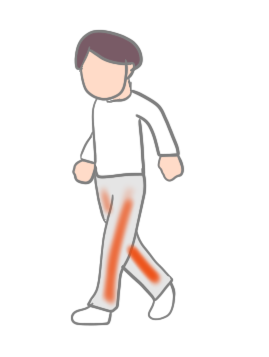 脊柱管狭窄症と慢性動脈閉塞症の間欠性跛行の違い