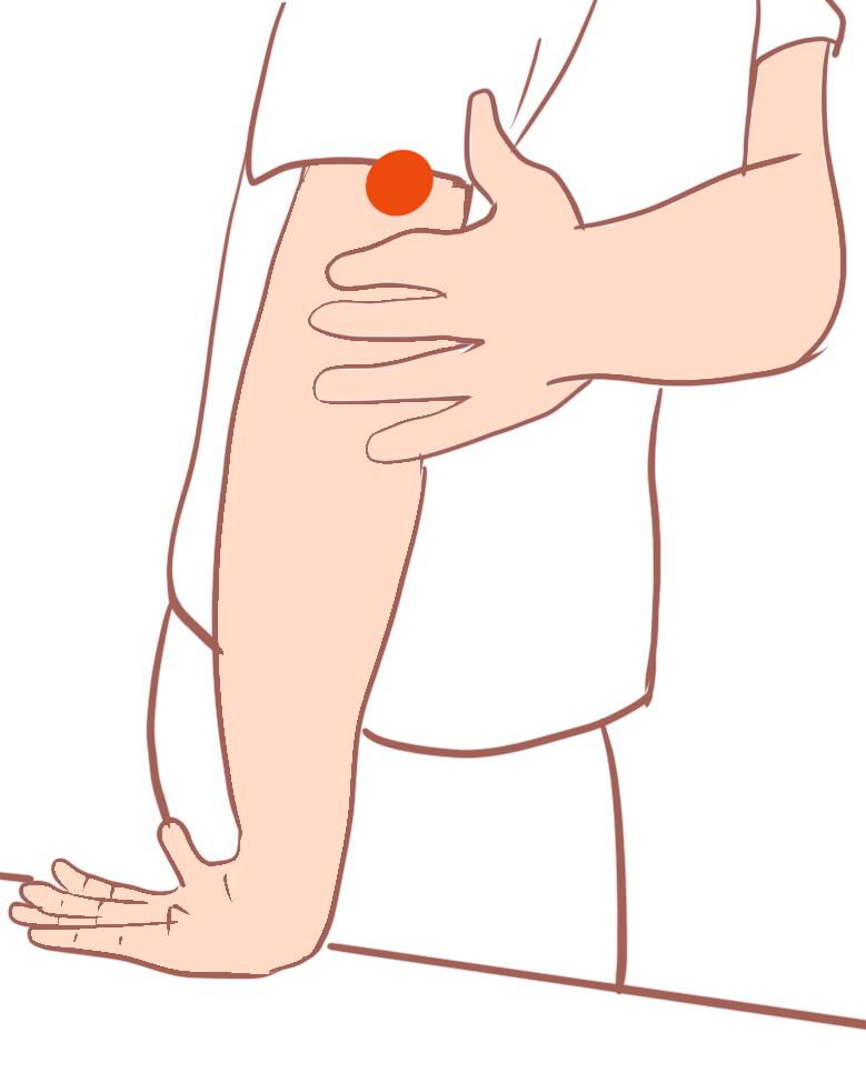 外側上顆炎テニス肘のストレッチ