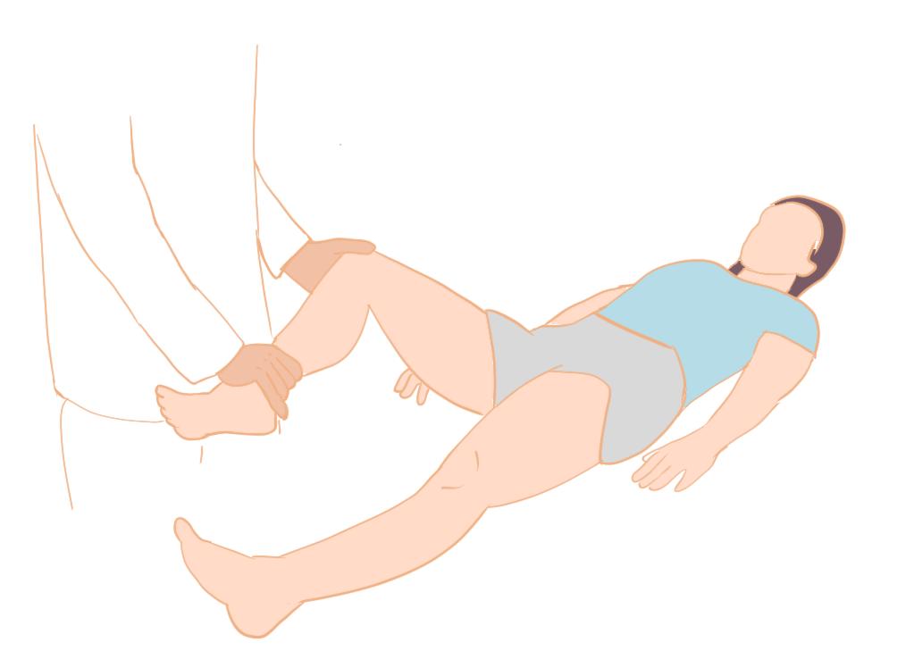 股関節の回旋テスト