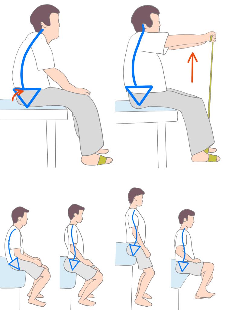変形性腰椎症高齢者のエクササイズ