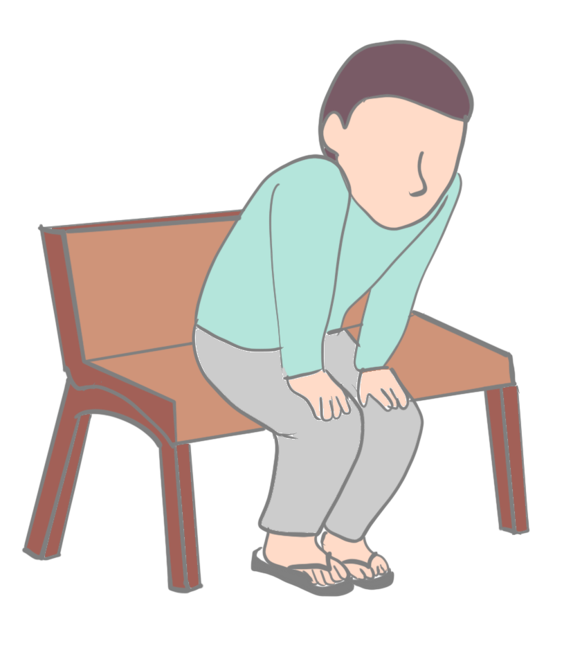 脊柱管狭窄症座ると軽減画像