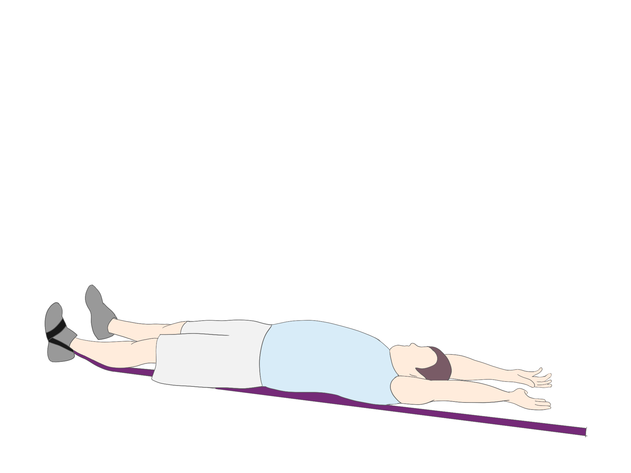 下肢の促通を伴った下肢からのローリング①