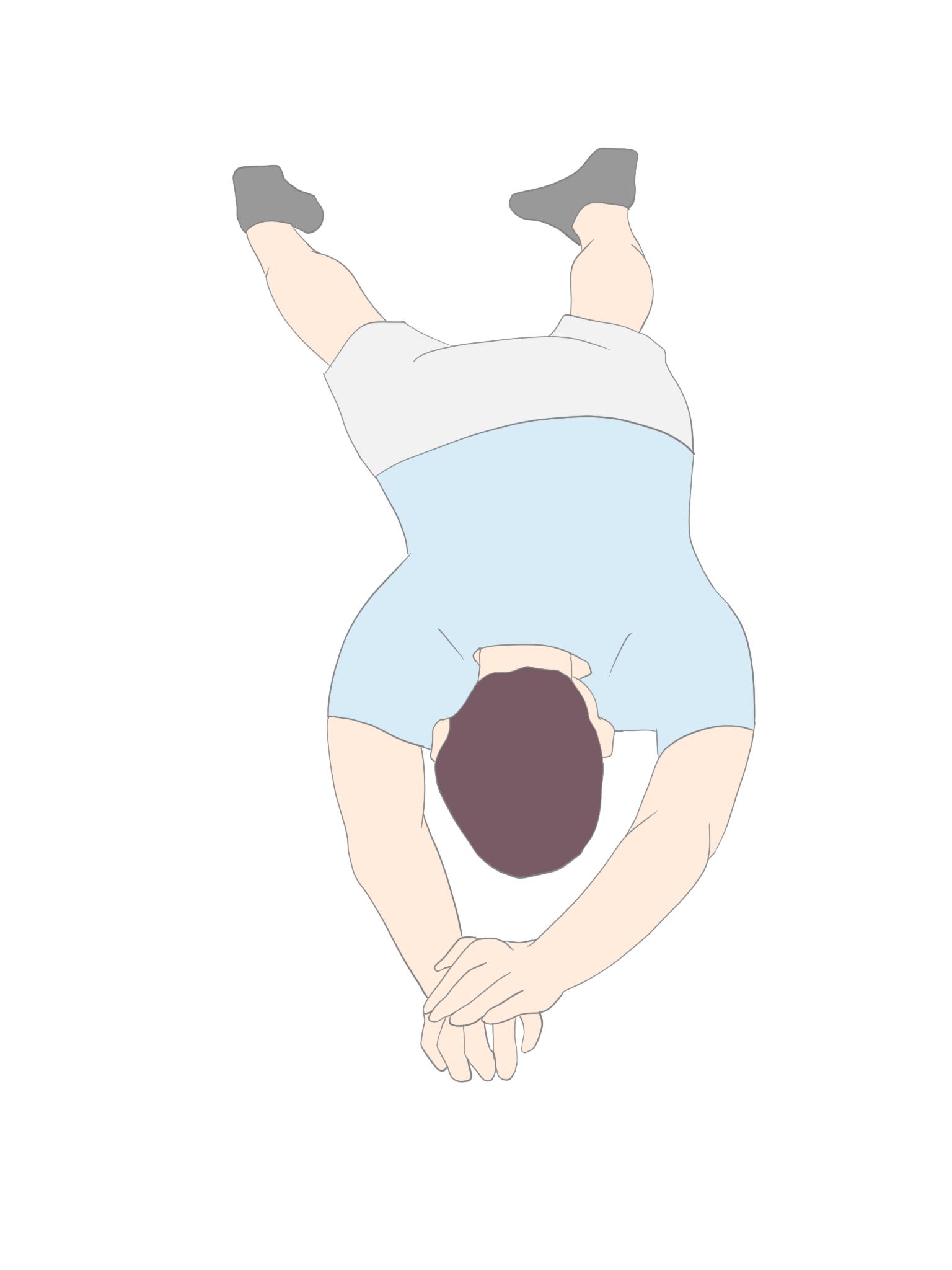 下肢からのローリング セットアップポジション