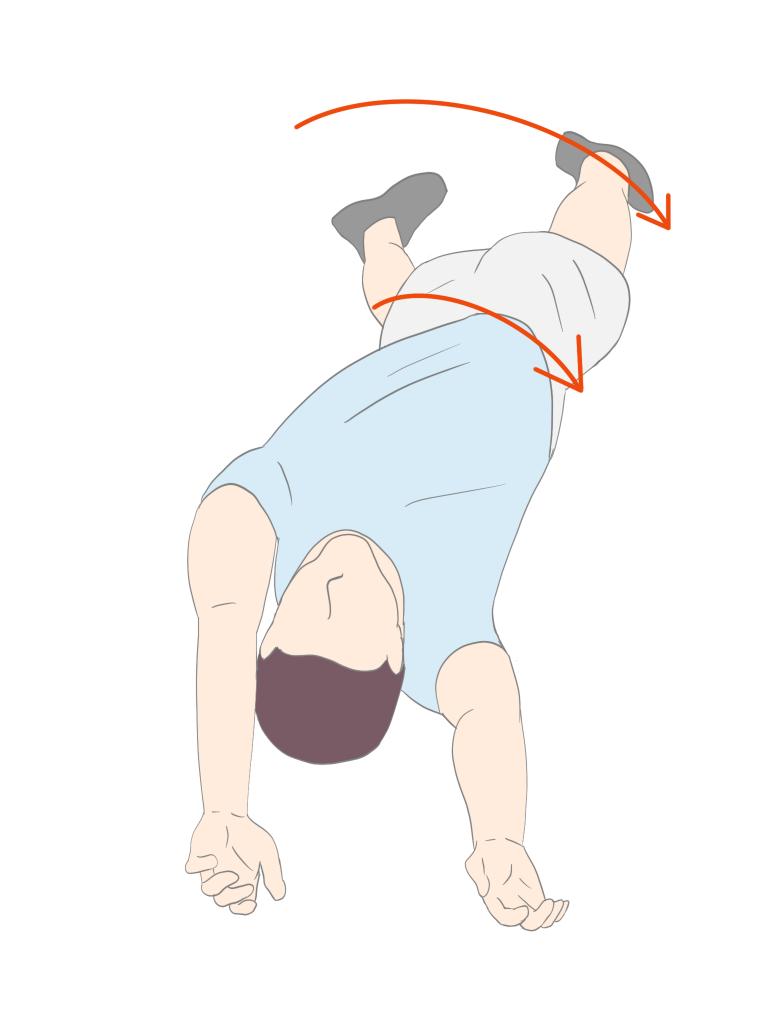下肢からのローリング