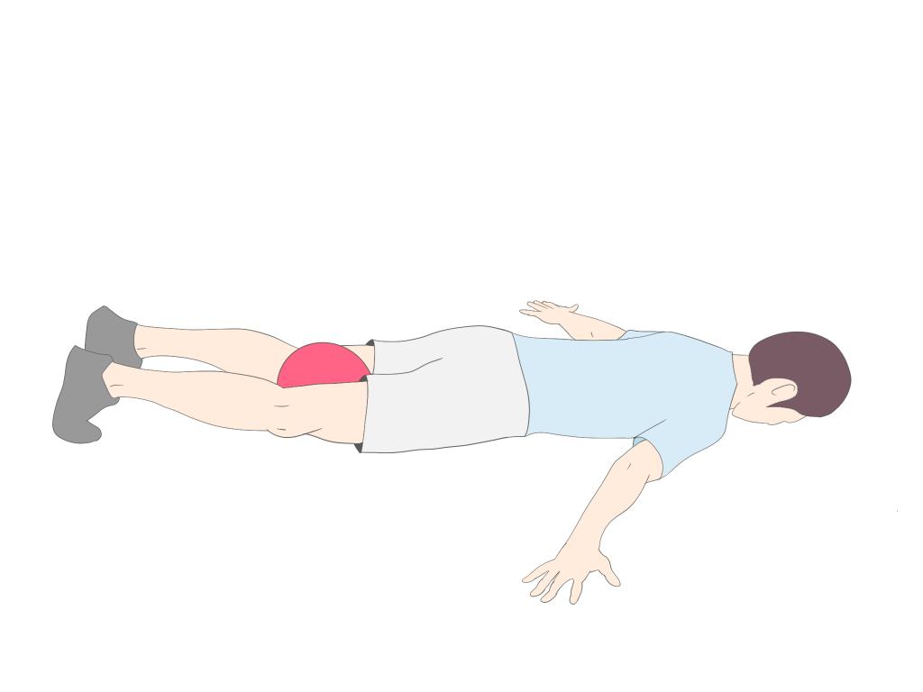 胸椎伸展エクササイズコブラ開始姿勢