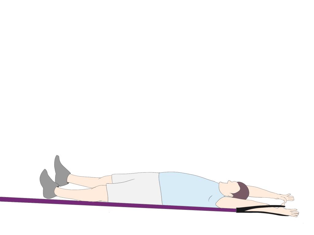 上肢の促通を伴った下肢からのローリング