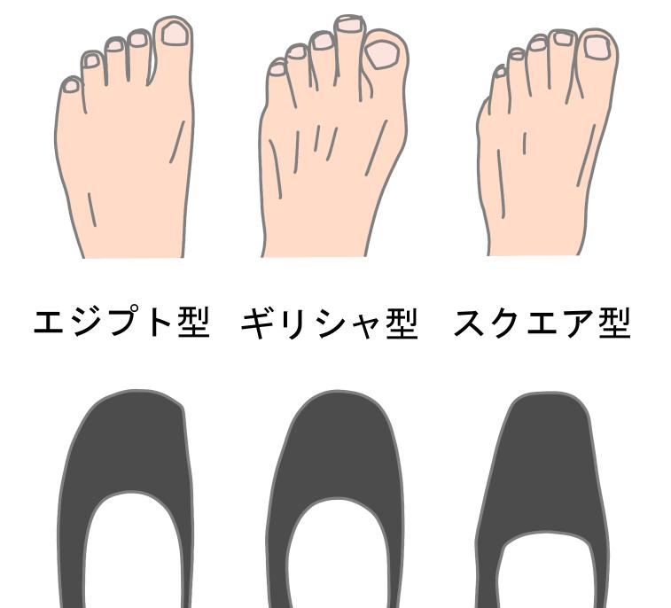 足の形と靴の形状