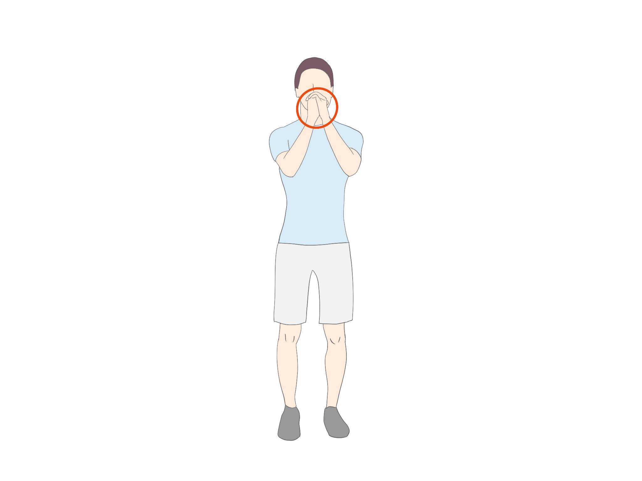 クロスオーバーランジ開始姿勢【金沢市のアルコット接骨院のパーソナルトレーニング】
