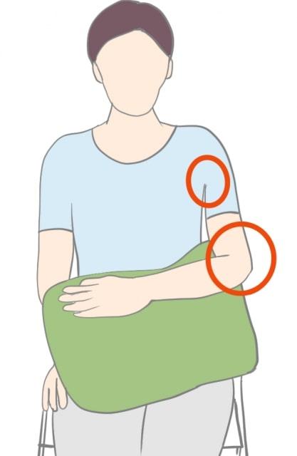肩峰下滑液包炎肩の良肢位01