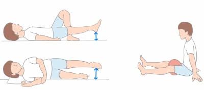変形性股関節症のエクササイズ画像