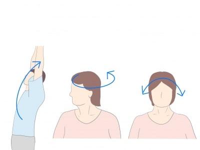 強直性脊椎炎首のストレッチ