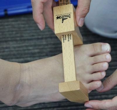足のサイズ計測