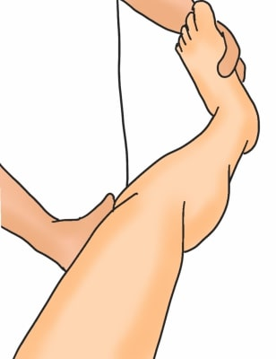 膝関節後外側不安定性リバースジャークテスト