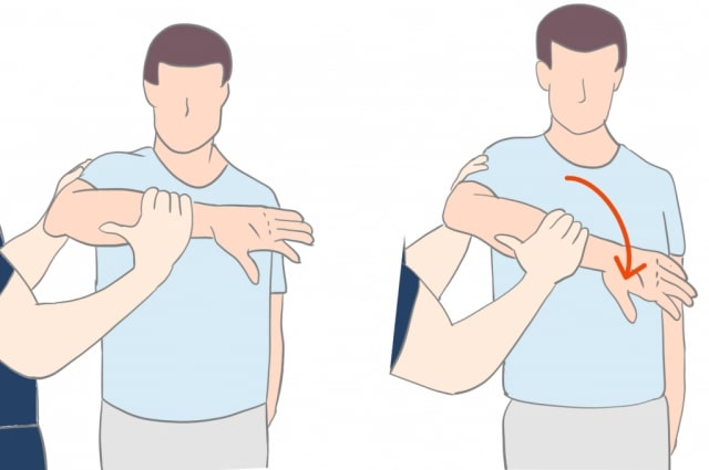 肩峰下インピンジメント症候群ホーキンステスト